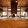 Bryn Mawr college students at Tenryu-ji with a Zen monk Thomas Yuho Kirchener have meditation in Kyoto, Japan on Oct. 2, 2013 (Photo / Ko Sasaki).