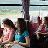 Bryn Mawr college students on the bus their way to Saihou-ji or the Moss Temple in Kyoto, Japan on Oct. 2, 2013 (Photo / Ko Sasaki)