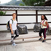 Bryn Mawr college students pose for photograph at Tenryu-ji in Kyoto, Japan on Oct. 2, 2013 (Photo / Ko Sasaki).