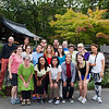 Bryn Mawr college students and professors pose for photograph near Saihou-ji or the Moss Temple  in Kyoto, Japan on Oct. 2, 2013 (Photo / Ko Sasaki)