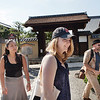 Bryn Mawr college students visit Daisen-in, a sub temple of Daitoku-ji in Kyoto, Japan on Oct. 1, 2013 (Photo / Ko Sasaki)