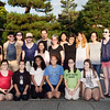 Bryn Mawr college students pose for a group photo at Daitoku-ji in Kyoto, Japan on Oct. 1, 2013 (Photo / Ko Sasak