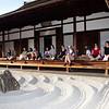 Bryn Mawr college students visit Zuihou-in, a sub temple of Daitoku-ji in Kyoto, Japan on Oct. 1, 2013 (Photo / Ko Sasaki)