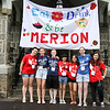 Merion customs: from left: Kelsey Weymouth-Little '16, Kayla Bondi '14 and Sarah Gilmour '14; dorm presidents Marisa Rafsky '16, Nicole Colchete '16, Karen Manzone '14, and Clara Kaufmann '16.
