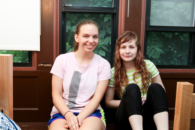 Rock roommates Caroline Cosby of Virginia and Austen Hamilton of Washington, DC.