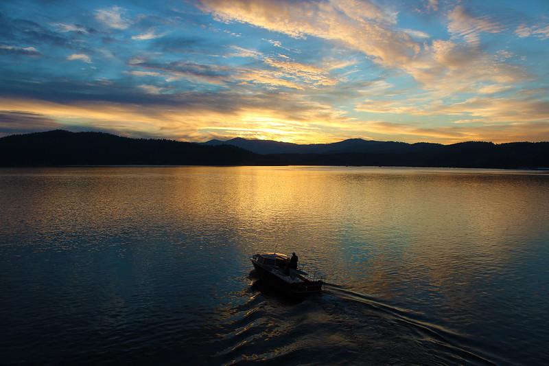 Coeur D' Alene Sunset