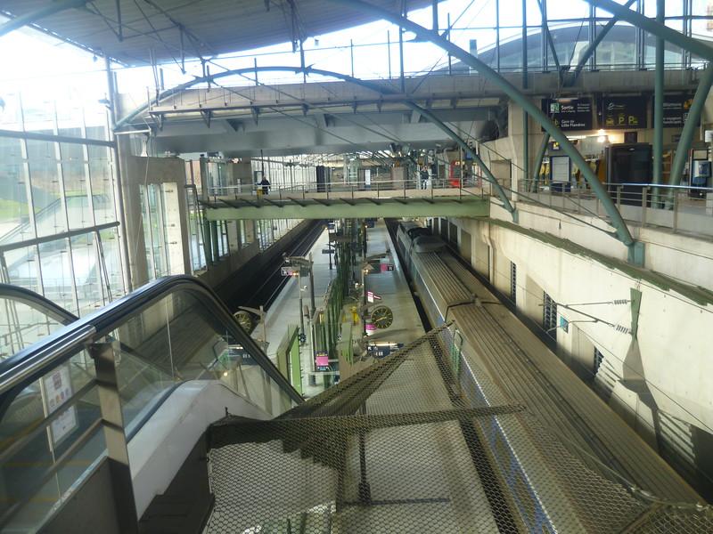 Lille Europe SNCF TGV and Eurostar station.