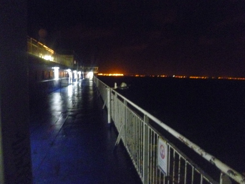 Crossing from Dover to Calais on the Pride of Kent.