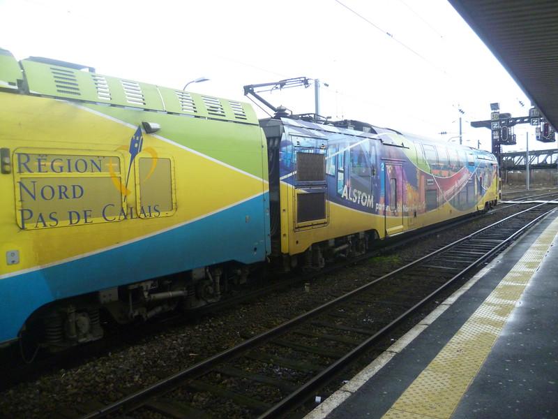 Region Nord Pas De Calais branded SNCF Z 26500 class at Valenciennes.