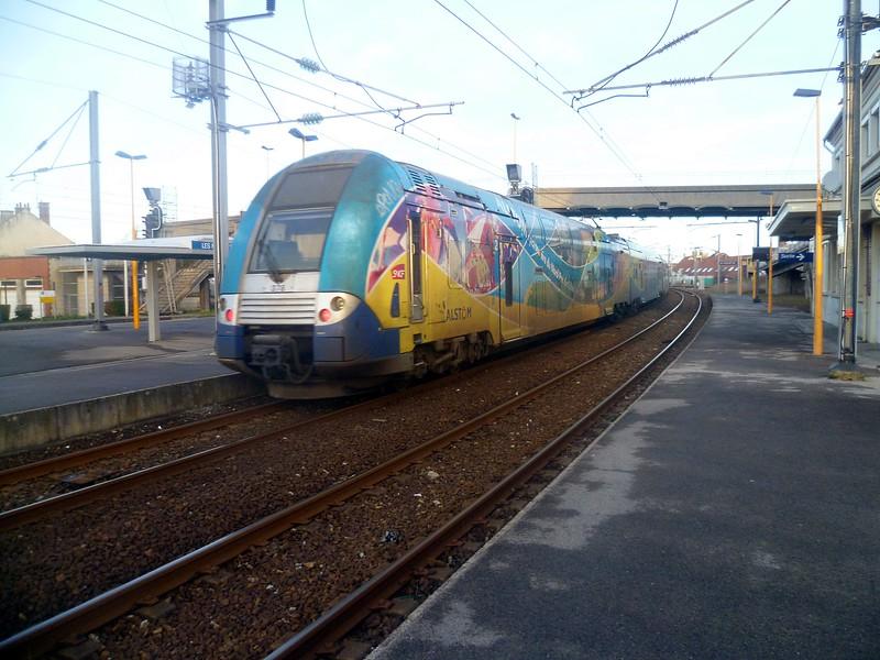 Region Nord Pas De Calais branded SNCF Z 26500 class no. 328 at Les Fontinettes.
