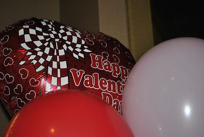 2-14-13: The Student activities office sold balloons to students for Valentines day.