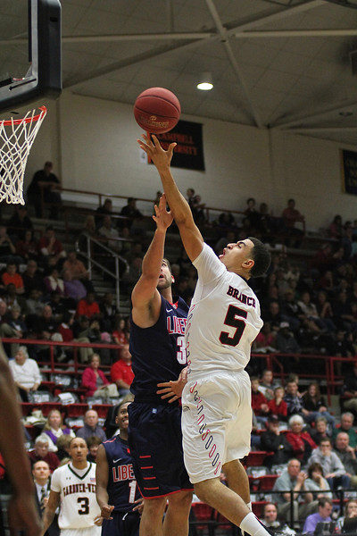 Mens Basketball defeats Liberty University 71-68 Saturday night in the Paul Porter Arena.