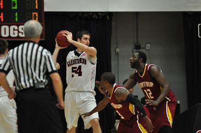 Mike Byron looks for a pass against Winthrop University Tuesday February 19, 2013.