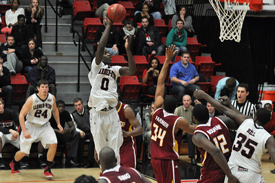 Donta Harper shoots against Winthrop University Tuesday February 19, 2013.