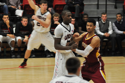 Donta Harper waits on a pass against Winthrop University Tuesday February 19, 2013.