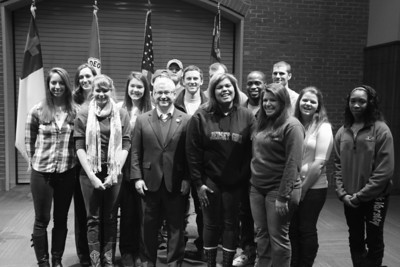 U.S. Rep Patrick McHenry visits Gardner-Webb University to speak with Walter Dalton's American Government class