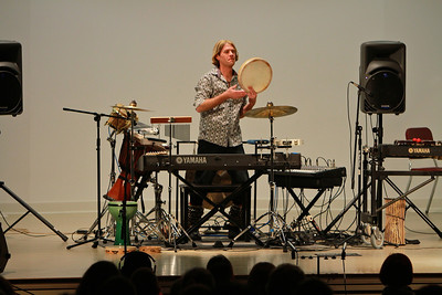 Mannheim Steamroller's Tom Sharpe performs for students and community at Gardner-Webb University; February 2013.