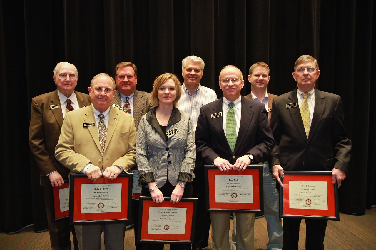 Board of Trustee Inductees and Recognition: Spring 2013.