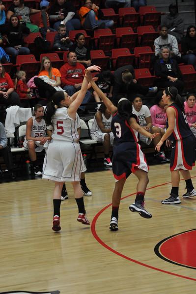 Lana Doran takes a shot against Liberty University on February 23, 2013.