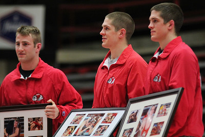 GWU Wrestling team hosts Duke University for their last home wrestling match of the season on Senior Night.  GWU Wrestling had five seniors to wrestle against Duke in the Paul Porter Arena.