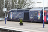 21 February 2013 :: The driver waits for the 'right away' on Diamond Jubilee HST power car No. 43186 which has made a scheduled stop at Didcot working 1L54, the 11.55 from Cardiff Central to Paddington