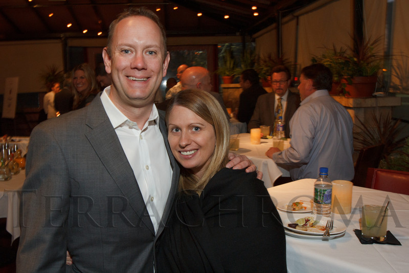Stefan and Jamie Jansson.  Hot Rocks VIP Preview party at Elway's restaurant, Cherry Creek, in Denver, Colorado, on Tuesday, Feb. 5, 2013.<br /> Photo Steve Peterson
