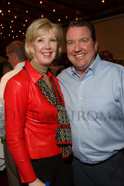 Paula Peri Tiernan and Mark Tiernan.  Hot Rocks VIP Preview party at Elway's restaurant, Cherry Creek, in Denver, Colorado, on Tuesday, Feb. 5, 2013.<br /> Photo Steve Peterson