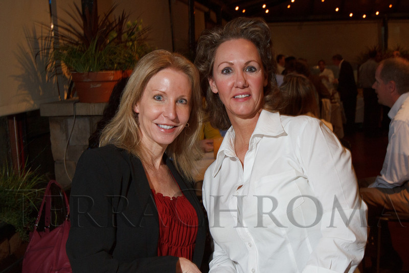 Christine Peterson and Jacqueline Moore.  Hot Rocks VIP Preview party at Elway's restaurant, Cherry Creek, in Denver, Colorado, on Tuesday, Feb. 5, 2013.<br /> Photo Steve Peterson