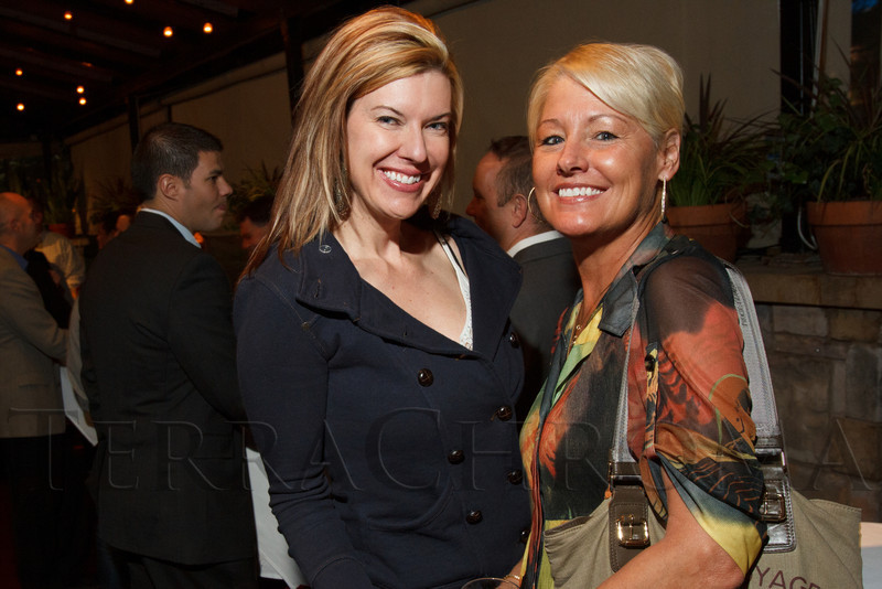Misha McGinley and Barb Simmons.  Hot Rocks VIP Preview party at Elway's restaurant, Cherry Creek, in Denver, Colorado, on Tuesday, Feb. 5, 2013.<br /> Photo Steve Peterson