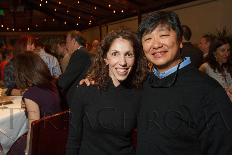 Ana and Dr. Fernando Kim.  Hot Rocks VIP Preview party at Elway's restaurant, Cherry Creek, in Denver, Colorado, on Tuesday, Feb. 5, 2013.<br /> Photo Steve Peterson
