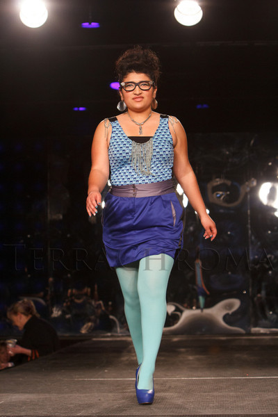 """Joselyn Lopez.  The """"Good Exchange for Change Fashion Show and Clothing Swap,"""" benefiting Goodwill Industries of Denver, at Exdo Event Center in Denver, Colorado, on Thursday, Feb. 7, 2013.<br /> Photo Steve Peterson"""