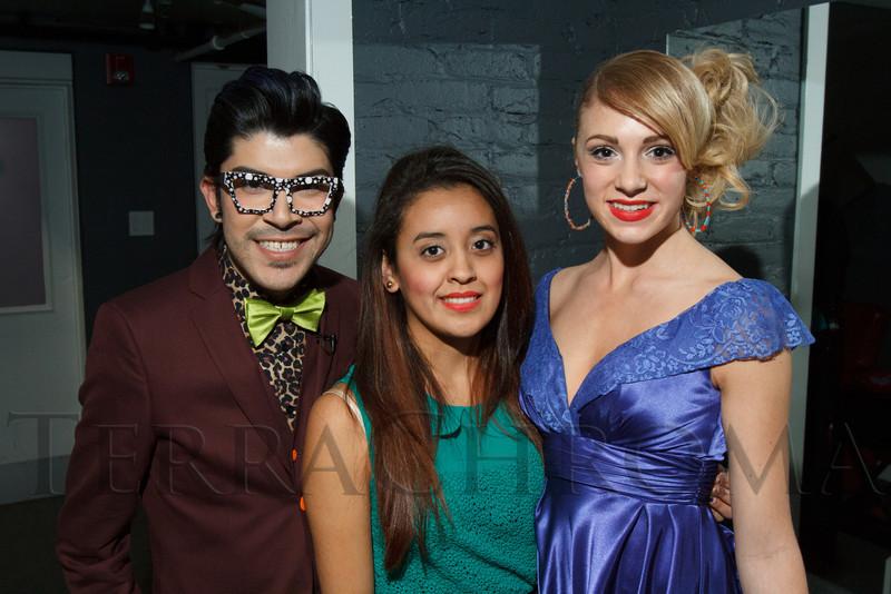 Armando (Mondo) Guerra, designer Celine Alejandre, and model, Sage Reidhead.