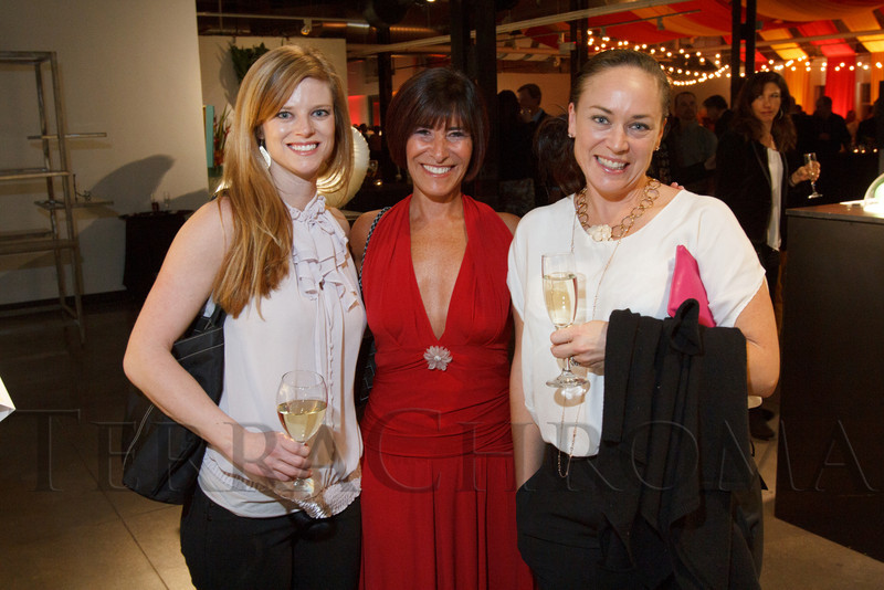 "Shadie Copeland, Lovedy Barbatelli, and Andrea Schumacher.  ""Design After Dark"" event, themed ""Cirque,"" benefiting the Denver Art Museum, at the McNichols Civic Center Building in Denver, Colorado, on Friday, Feb. 8, 2013.<br /> Photo Steve Peterson"