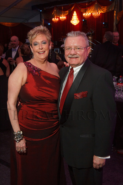 """Maureen and John Harney.  """"The Premiere,"""" an event hosted by the University of Colorado Hospital Foundation and benefiting the University of Colorado Hospital Emergency Department, at the Department of Emergency Medicine, University of Colorado Hospital, in Aurora, Colorado, on Saturday, Feb. 9, 2013.<br /> Photo Steve Peterson"""