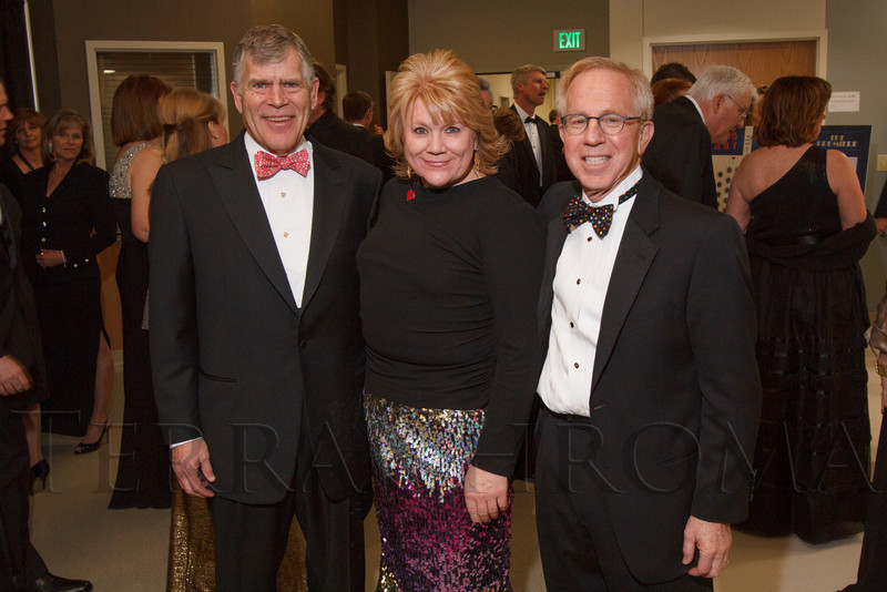 """Don Elliman, Angela Lieurance, and Bruce Schroffel.  """"The Premiere,"""" an event hosted by the University of Colorado Hospital Foundation and benefiting the University of Colorado Hospital Emergency Department, at the Department of Emergency Medicine, University of Colorado Hospital, in Aurora, Colorado, on Saturday, Feb. 9, 2013.<br /> Photo Steve Peterson"""