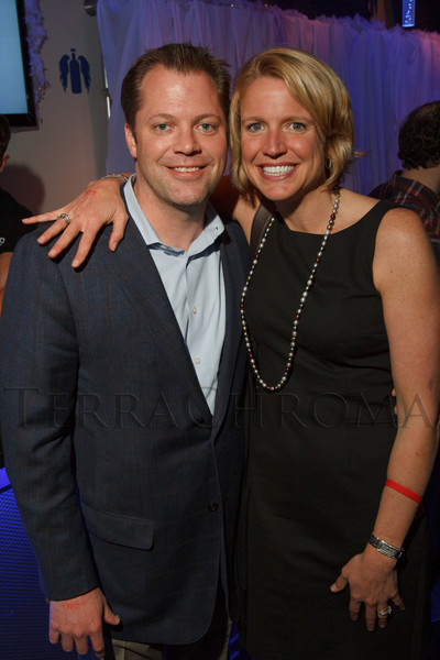"""Brett Dolan and Kathryn Harris.  """"Single in the City 2013,"""" presented by 5280 magazine, at Exdo Event Center in Denver, Colorado, on Friday, Feb. 15, 2013.<br /> Photo Steve Peterson"""