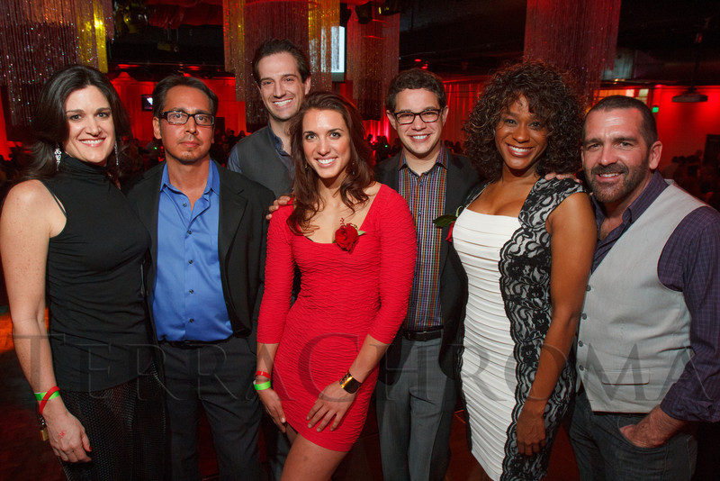 "Mary Stein, Jose Mercado, Jason Strauss, Emily Schromm, Andrew Freedman, Tasha Jones, and David Sevick.  ""Single in the City 2013,"" presented by 5280 magazine, at Exdo Event Center in Denver, Colorado, on Friday, Feb. 15, 2013.<br /> Photo Steve Peterson"