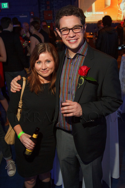 """Shelby Ross and Andrew Freedman (a Top Single).  """"Single in the City 2013,"""" presented by 5280 magazine, at Exdo Event Center in Denver, Colorado, on Friday, Feb. 15, 2013.<br /> Photo Steve Peterson"""