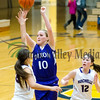 Dixon's Kacie Dillow goes up for a shot Tuesday night against Rochelle.