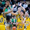 Sterling girls begin to celebrate their regional win over Rock Falls Tuesday night.