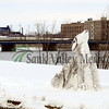 The second sculpture went late Wednesday along second street in Rock Falls.
