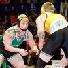 Rock Falls' Shawn Skinner wrestles Lena-Winslow's Ty Harmston for the title in 195 pound class Saturday evening at the Class 1A State Wrestling Tournament.