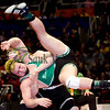 Rock Falls' Shawn Skinner gets thrown to the mat by Lena-Winslow's Ty Harmston for the title in 195 pound class Saturday evening at the Class 1A State Wrestling Tournament.