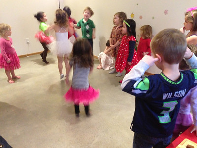 "Connor's had enough of this ""Christmas Ballerina"" birthday party."