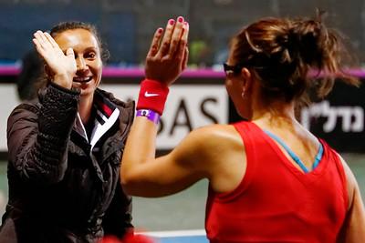 0114  Darija Jurak and captain Iva Majoli - Croatia - Fed cup 2013_14