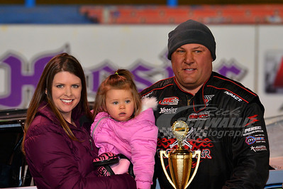 Scott James in Victory Lane at Florence Speedway