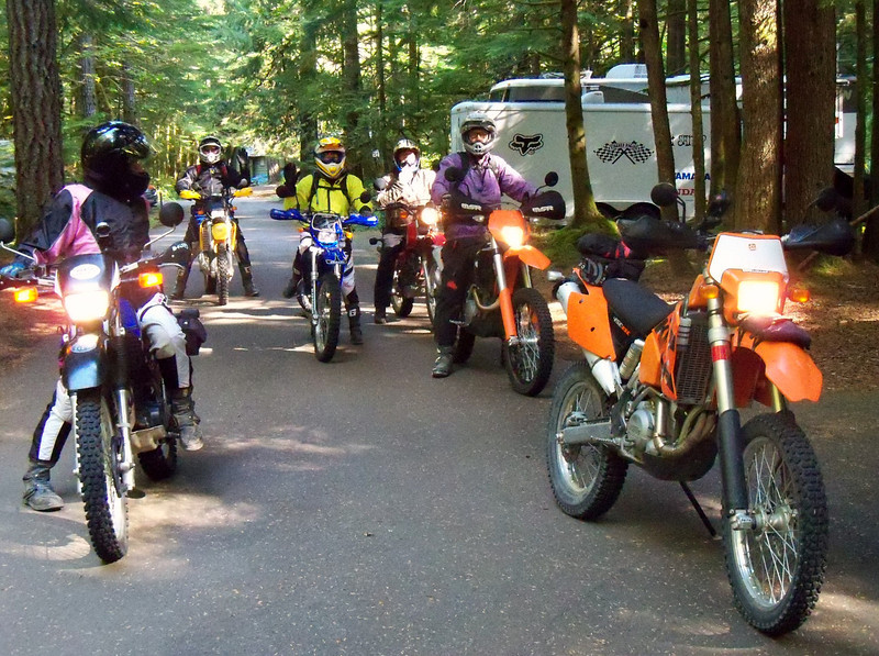 Preparing for Wednesday's Dual Sport Ride to Burley LO & Krause Ridge
