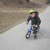 ALEX IN CENTRAL PARK...GETTING TOO BIG FOR THIS LITTLE BIKE
