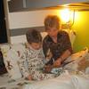 ALEX & GRANDMA READING BEFORE BEDTIME
