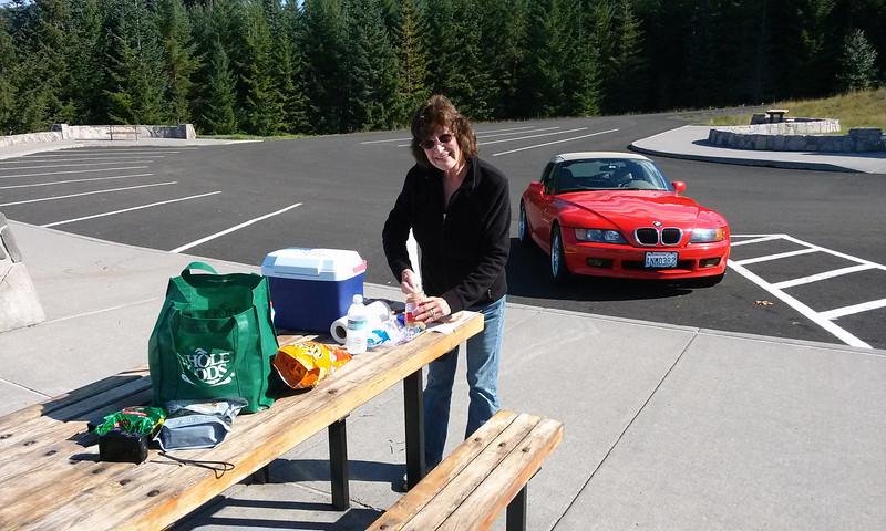 Lunch stop on the Wind River road to Carson..